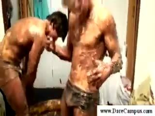 Dirty college guys masturbating