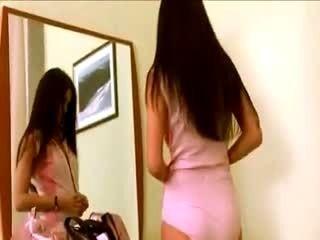 Cute Brunette Babe Undressing Off