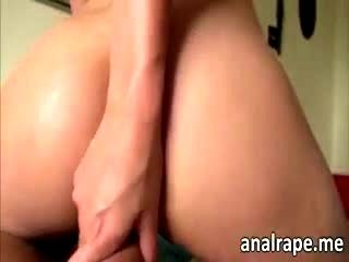Nova Brooks Pussy Is Gaping Wide Open When She Gets Ass Fucked For The First Time In Her Life