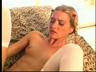 Skinny Blonde Fucked And Facialed