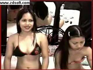 Two Asian Camgirls In Bikinis Tease