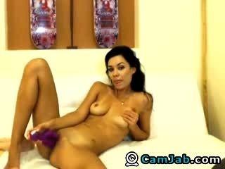Beautiful Girl Plays With Dildo