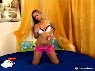 Perfect Blonde Teen Doing A Webcam Show