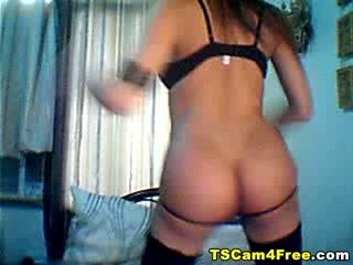 Hot Tranny Striptease