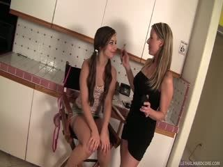 Lesbian Cougars Crave Young Kitten #7