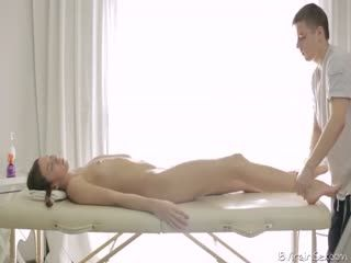 Pigtail Teen Fucked During Massage