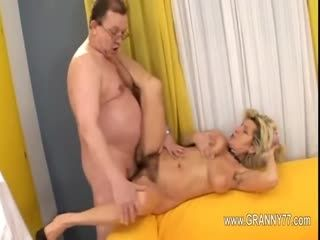 Ultra shocking and sexy granny with my brother