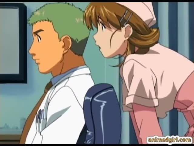 Anime nurse gets naughty sex
