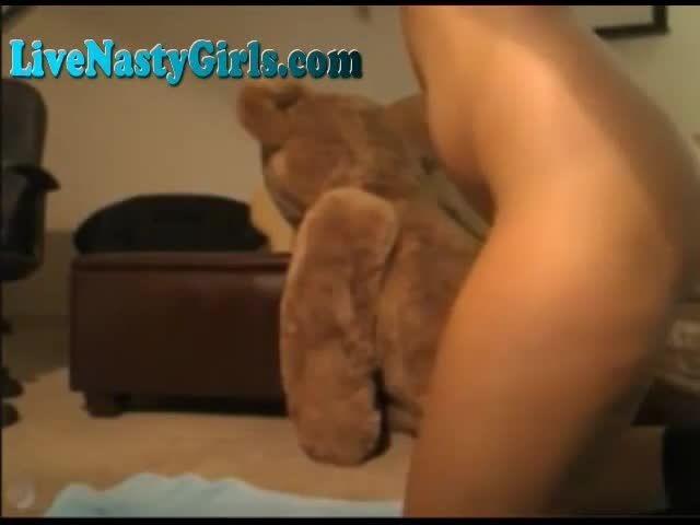 Ready help Jumbo teddy bear fucks a girl