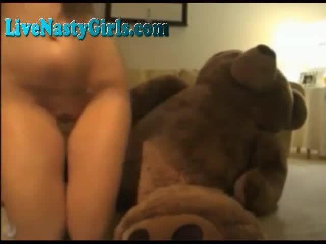 True Jumbo teddy bear fucks a girl