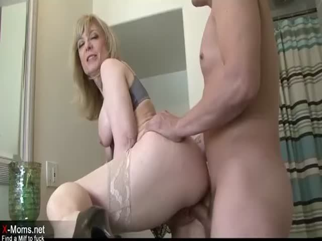 Really horny blonde mother seduces sons friend nice fuck 7