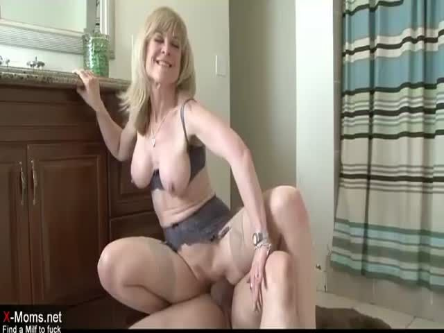 Really horny blonde mother seduces sons friend nice fuck 5