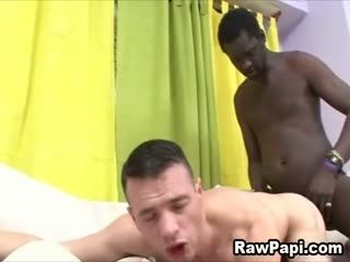 Cute Latino Papi in pain as big Ebony Dick Rammed his Ass.