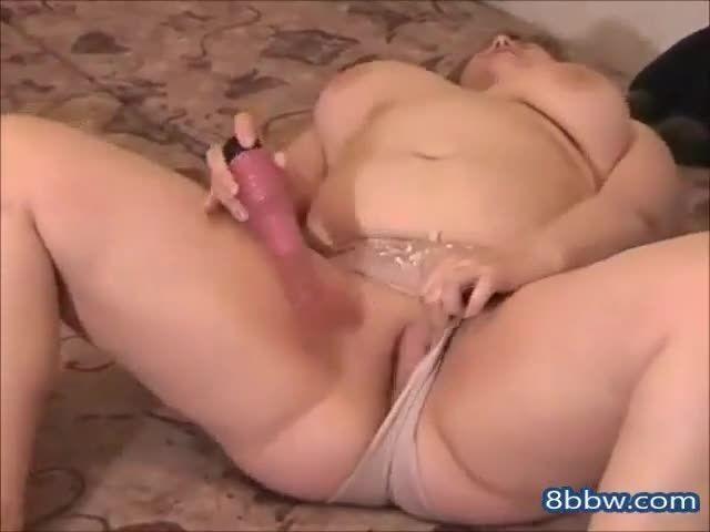 Horny bbw blonde masturbating shaven wet pussy