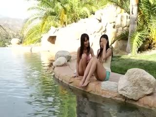 Cindy Starfall Marica Hase Angelina Chung And Alina Li Asian Pool Party