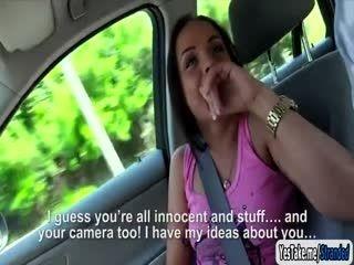 Angelina Wild fucked inside the car