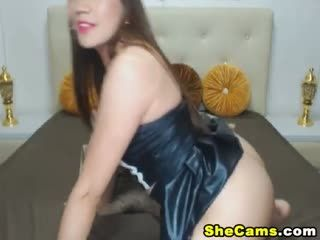 Sexy Shemale Plays her Big Hard Cock
