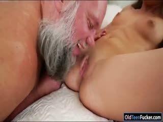 Hungarian Anita Bellini sucking grandpa