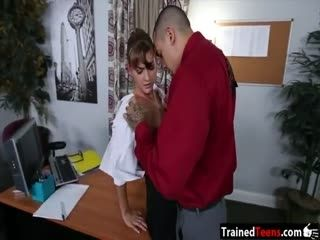 Office babe Dakota Vixin pussy wrecked