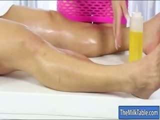 Big juggs massesuse jizzed on her booty