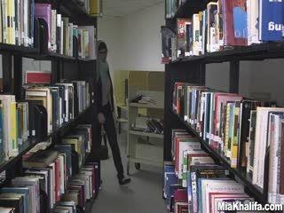 Mia Khalifa At Library Solo