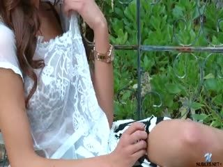 August Ames Outdoor Voyeur