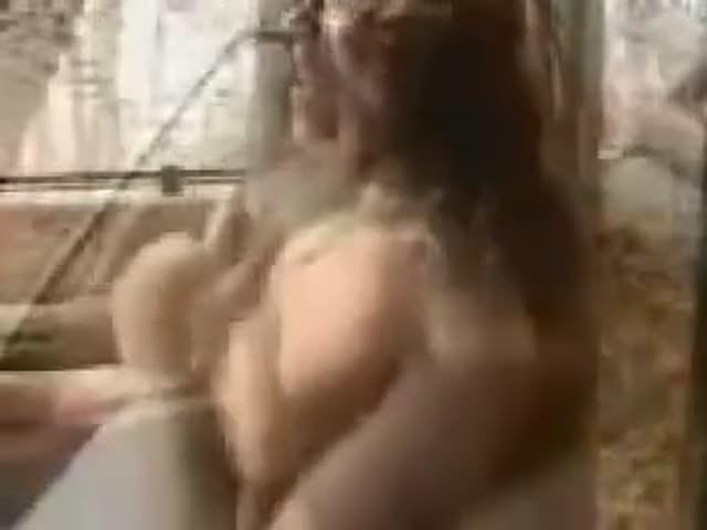 Big boobed webcam strip
