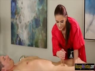 Sexy masseuse Anna Deville pounded hard