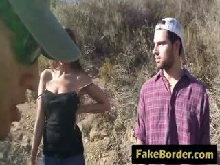 Fakeborder 24 4 217 Nasty Border Patrool Surveys Pretty Brunette With Great Deliberation 72p 1