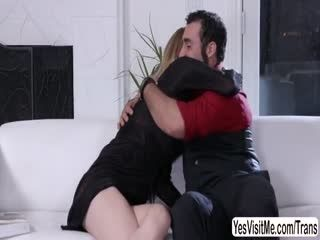 TS Mandy gets ass fucked by Jaxton
