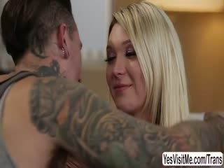 Beautiful TS Aubrey have sex with her BF