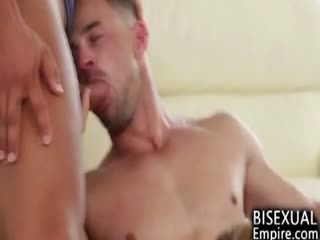 MMF Bisex Threesome Ends With Cum Blasts!