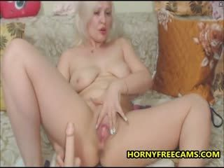 Blonde German Milf Loves Double Penetration