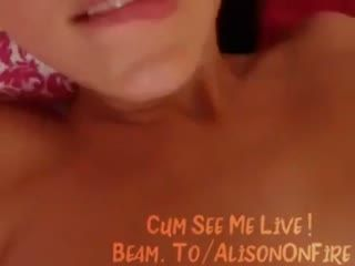 Beam.to Alisonfire   Amateur Webcam Babe Masturbating On Twitch 21  231   Webcam Girl Alisonfire