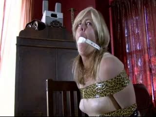 Hardcore Kidnapping And Rape Fetish. SeXY Blonde Knockout Restrained Like A Dirty Whore