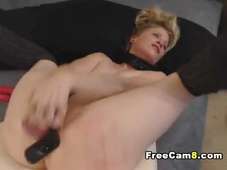 Blonde Wife Fuck Hard By Dildo And Squirt