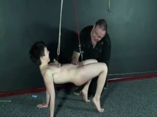 japanese bdsm and tit torment of dungeon submissive mei mara in metal clamped   webcam girl  mara