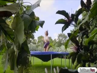 Ivy getting fucked in the trampoline