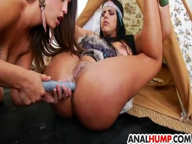 Lesbian Stockings Anal Strapon