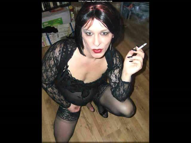 Mature Tranny Smoking Slideshow Porn Video-1114