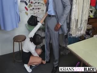 Asiansloveblack 2 6 217 Dp At The Cleaners 2