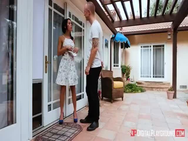 Megan Rain Screws Two Guys Through A Doggy Door Picture 9