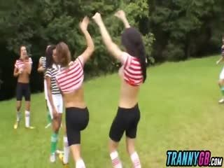 Trannygb 5 7 217 Hot As Fuck Soccer Trannies Gang Bang Referee Hd 1