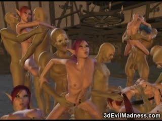 WTF Creatures Fucking Helpless 3d Girls!