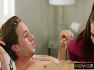 Two Sexy Masseuses Shared A Hard Cock