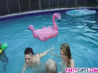 Midnight Naked Pool Party