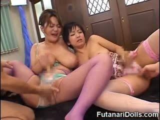 Futanari MILFs Squirting And Cumming!
