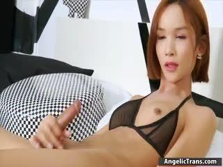 Small Tits Asian TS Mikki A Masturbates
