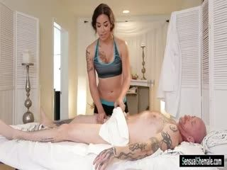 TS Masseuse Tori Mayes Analyzed By Bald