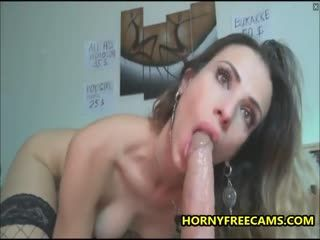 Hot MILF Got Pussy Creampie And Facial From Squirting Dildo